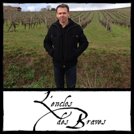 Nicolas Lebrun devant ses vignes - Domaine  de L'Enclos des Braves