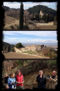 Visite sur les hauteurs de Gigondas