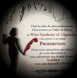 La Soirée Prohibition par le Wine Syndicate of Gigondas