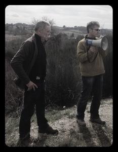 Serge Férigoule (à gauche) et Eric Saurel (à droite) nous parlant de la biodynamie lors du Vinocamp Rhône